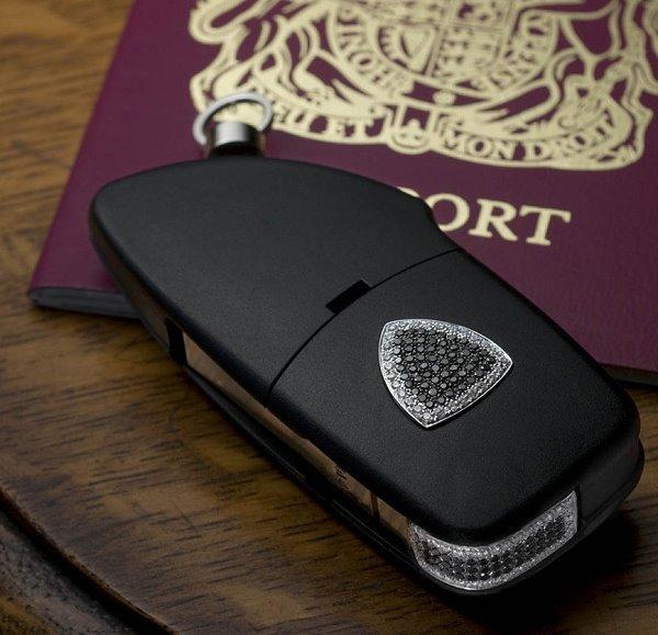 抽钥匙不会输,英国amosu luxury打造lamborghini专属钻石钥匙高清图片