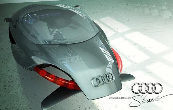 未来磁浮汽车现形,AUDI 鲨鱼概念车好看就好高清图片