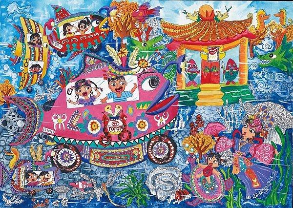 理想世界简笔画-增设「台湾文化奖」 在地文化发扬国际,自举办以来,台湾参赛者的艺
